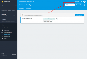 4. Firebase Remote Config Android - publish changes