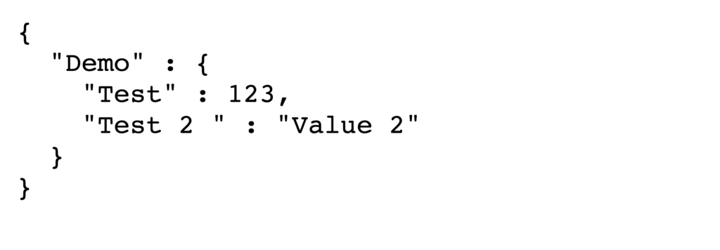 JSON example