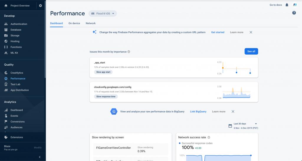Firebase Performance Monitoring