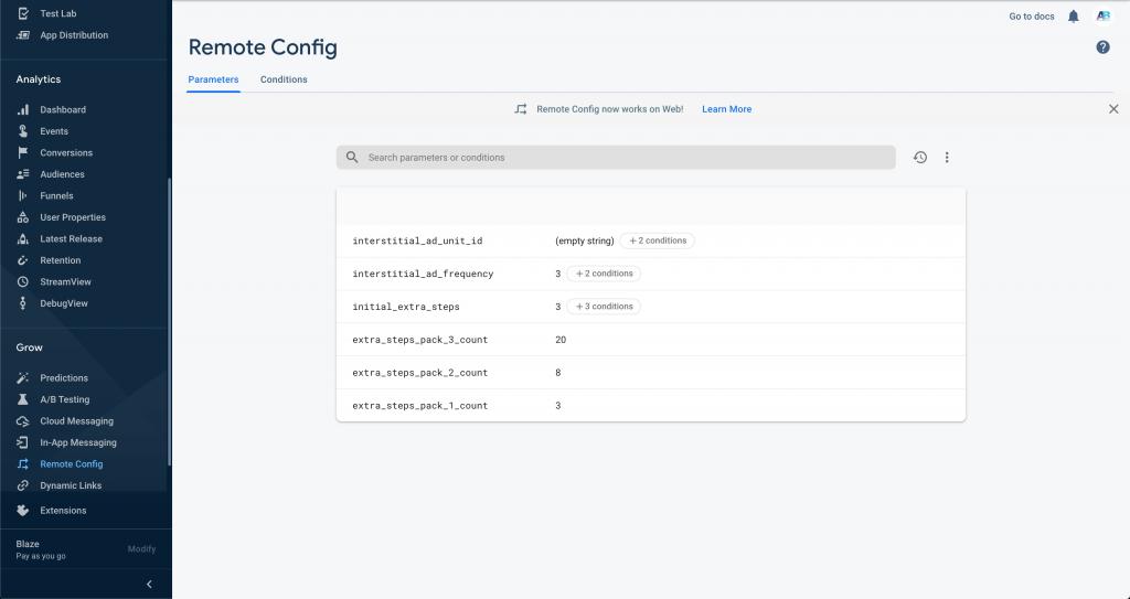 Firebase Remote Config Screenshot