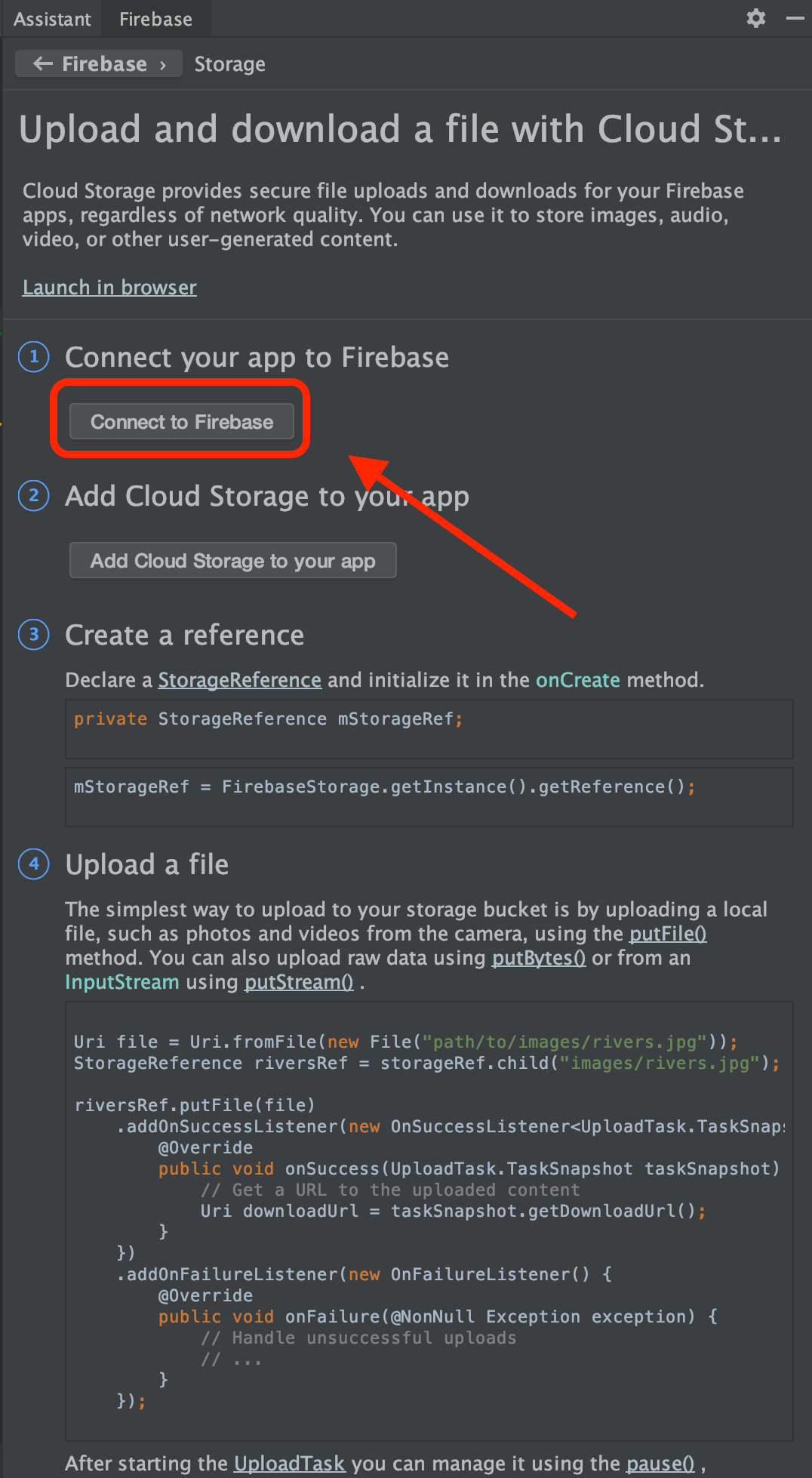 Firebaes Cloud Storage to Android