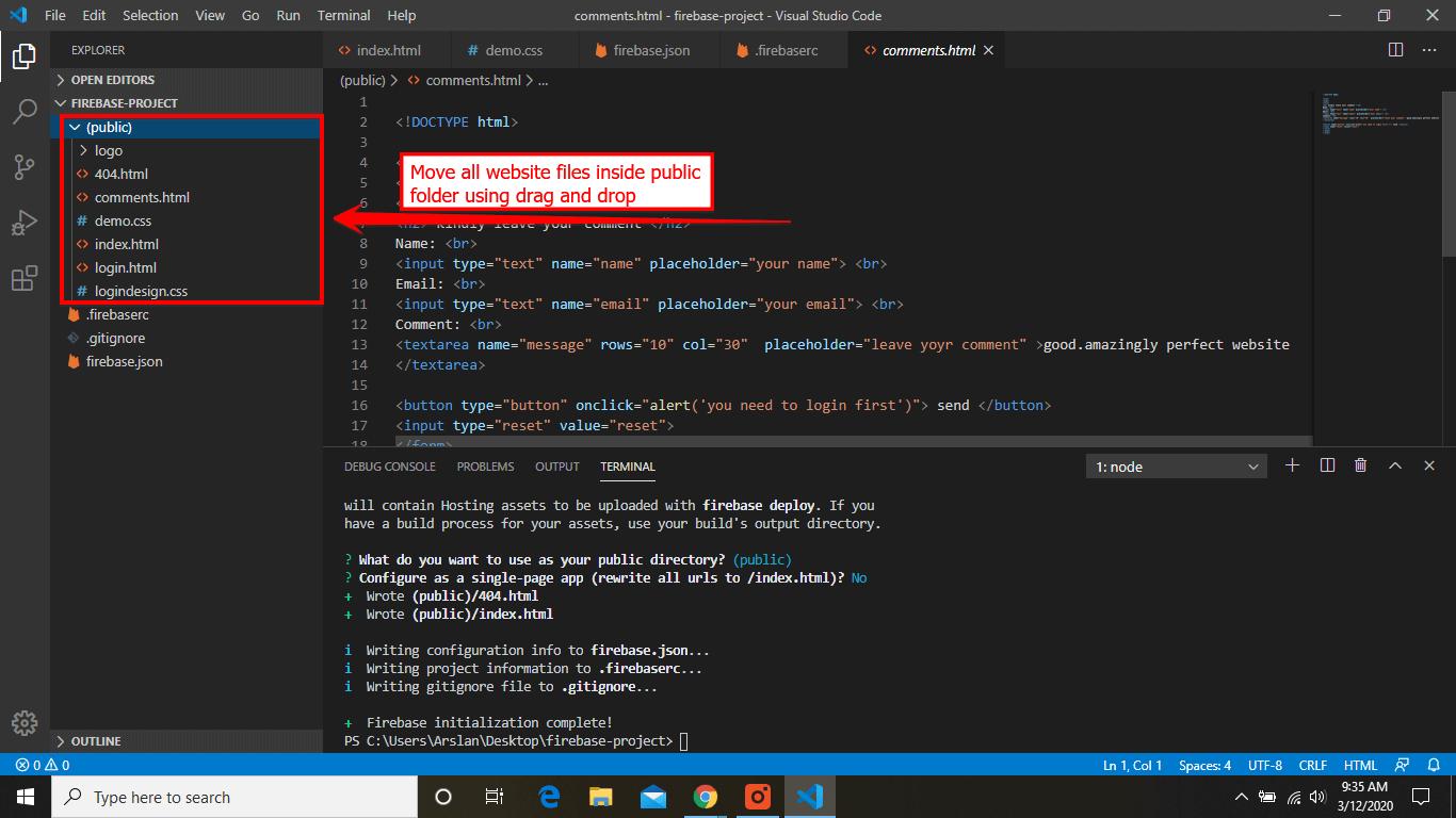 Move all files in public folder