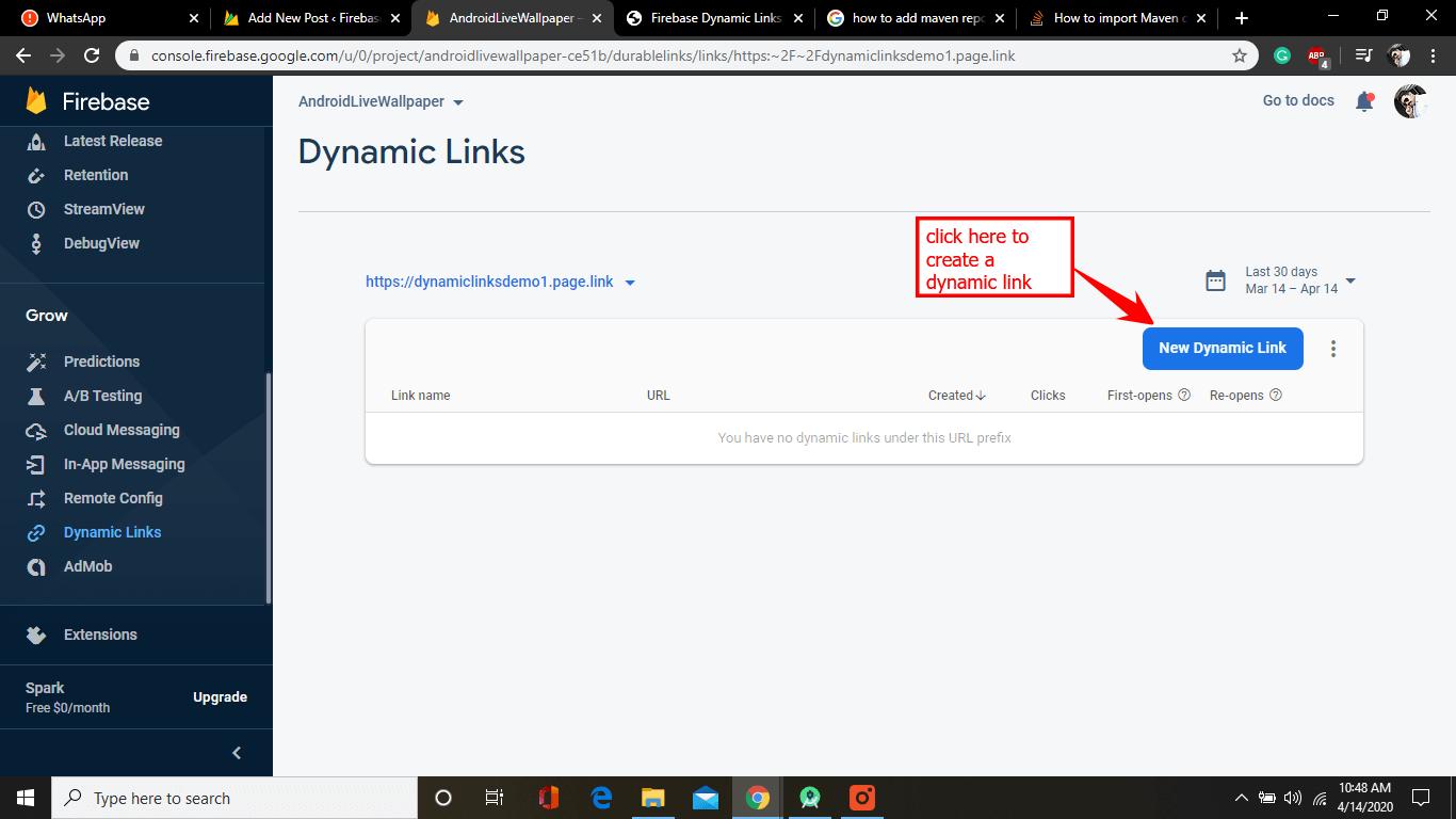 dynamic link homepage