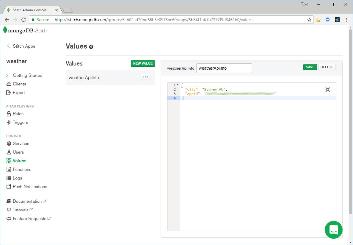 MongoDB dashboard