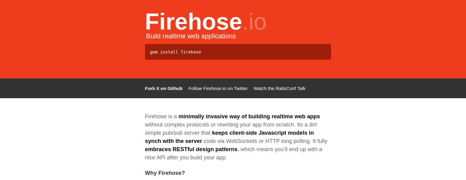 firehose homepage