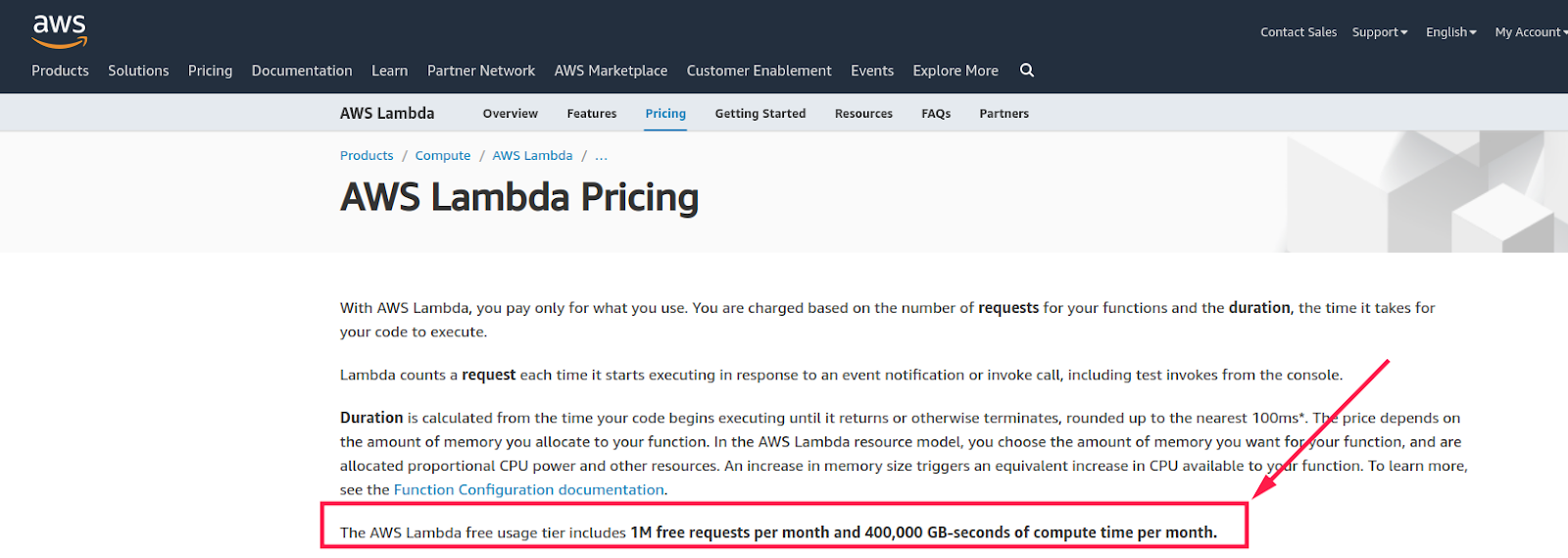 AWS Lamda Pricing