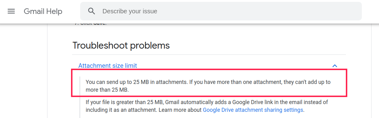 Gmail file size limit